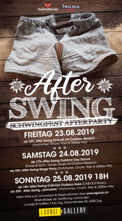 Flyer After Swing - Schwingfest Afterparty mit Outdoor Bereich