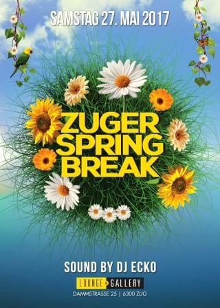 Flyer Zuger Spring Break Party