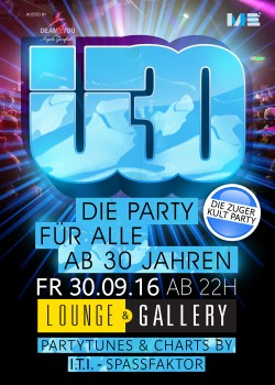 Flyer Ü30 Party Zug - Die Kultparty