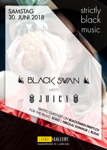 Flyer Black Swan meets Juicy