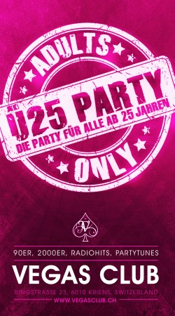 Flyer Adults Only - Die 25+ Party
