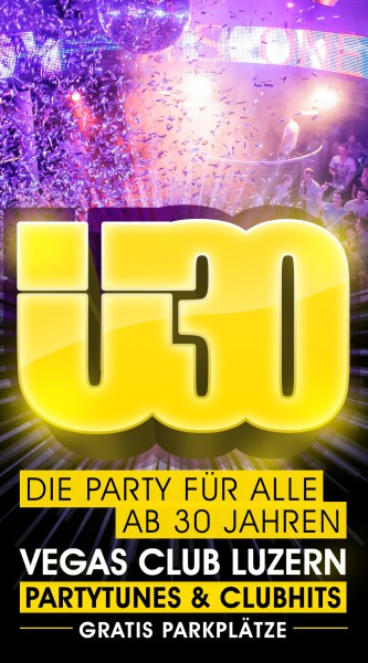 Flyer Ü30 Party Luzern