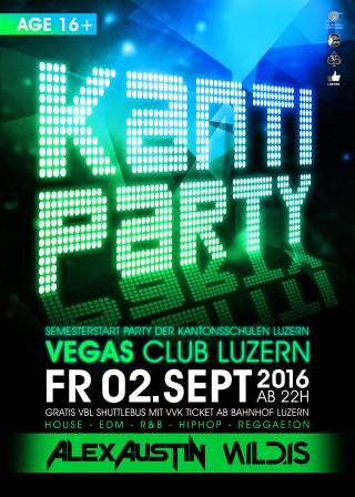 Flyer Kanti Semesterstart Party