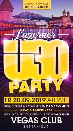 Flyer Luzerner Ü30 Party