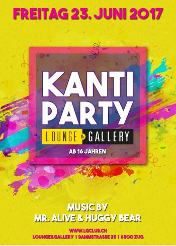 Flyer Kanti Party / 16+
