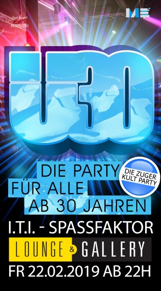 Flyer Ü30 Party Zug