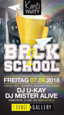 Flyer Kanti Party - Back2School ab 16+