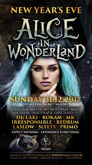 Flyer NEW YEARS EVE - Alice in Wonderland