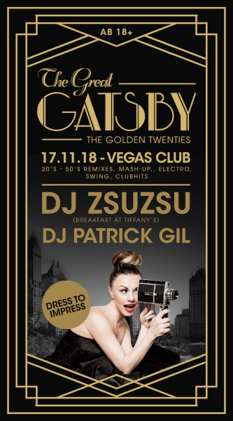 Flyer The Great Gatsby mit ZsuZsu
