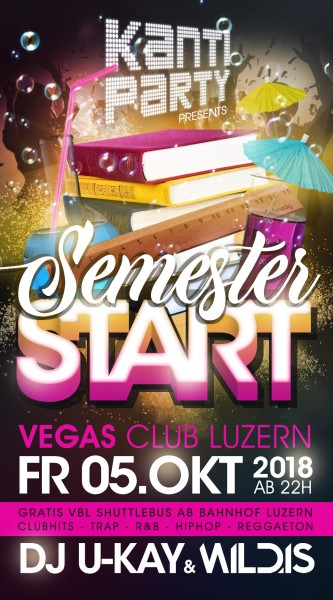 Flyer Kanti Party - Semester Start