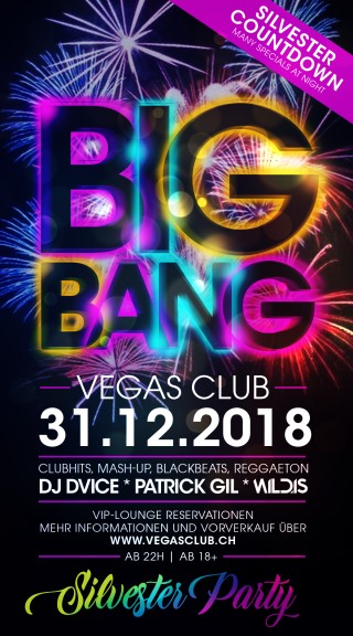 Flyer BIG BANG - Die Silvester Party