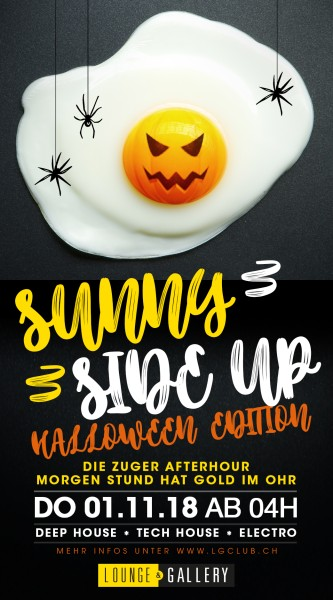 Flyer Afterhour - Sunny Side Up / Halloween Special