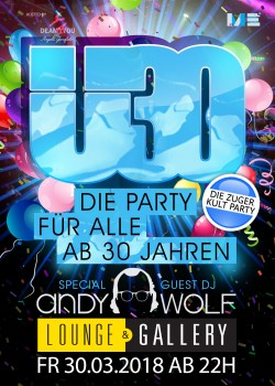 Flyer Ü30 Party Zug - Easter Edition mit Andy Wolf