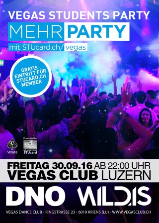Flyer STUcard.ch Party