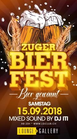 Flyer Zuger Bier Fest