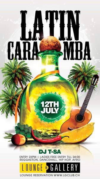 Flyer LATIN CARAMBA - Ladies free entry till 24h