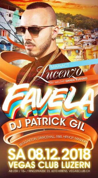 Flyer FAVELA mit Lucenzo (Danza Kuduro)