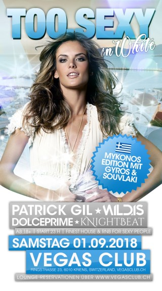 Flyer TOO.SEXY in white - Mykonos Edition