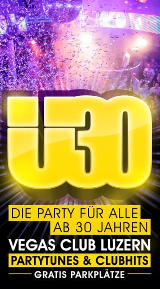 Flyer Ü30 Party Luzern