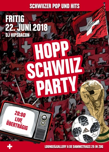 Flyer HOPP SCHWIIZ & POP SCHWIIZ Party