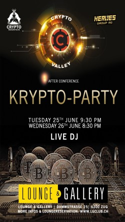 Flyer KRYPTO Party  - After Conference