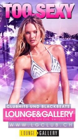 Flyer TOO.SEXY for Zug - Ladies free entry bis 24h