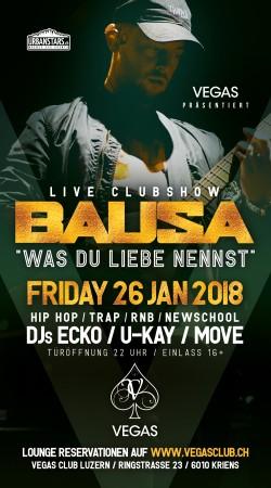 Flyer Bausa - Clubshow