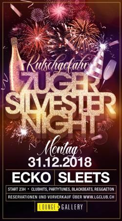 Flyer Zuger Silvester Nacht