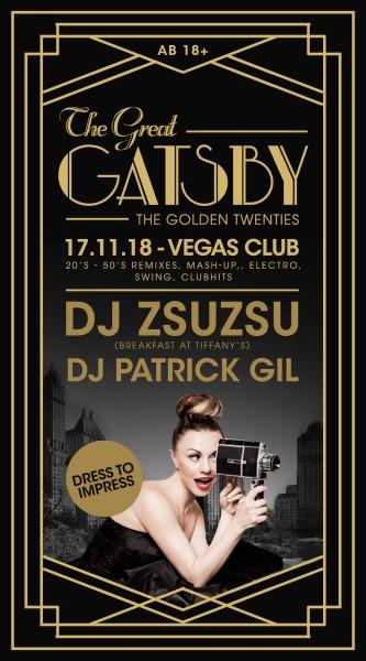 Flyer The Great Gatsby mit ZsuZsu