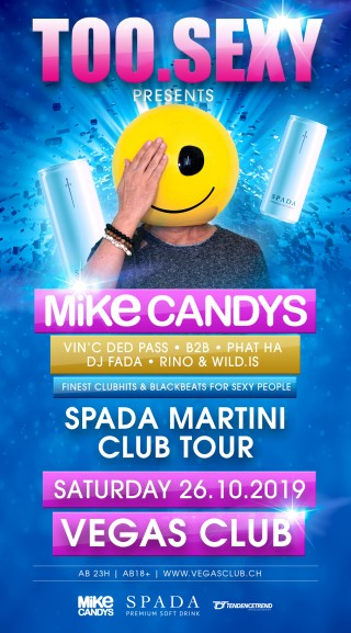 Flyer TOO.SEXY w/ Mike Candys