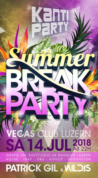 Flyer Kanti Party - Summer Break Party
