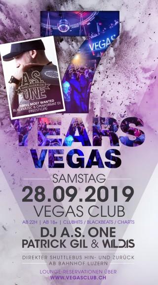 Flyer 7 Years VEGAS Club