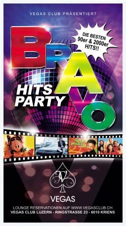 Flyer BRAVO HITS Party