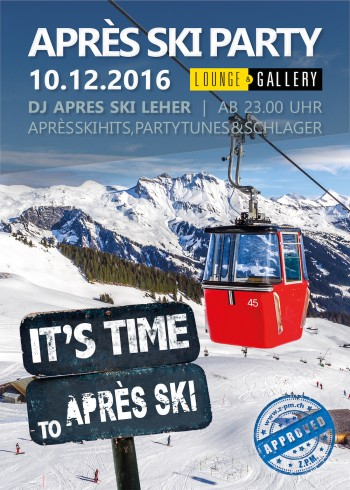 Flyer Après Ski Party