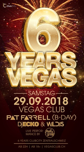Flyer 6 Years VEGAS Club