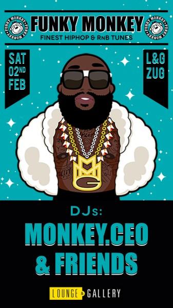 Flyer 20 Jahre Funky Monkey - freier Eintritt bis 24h