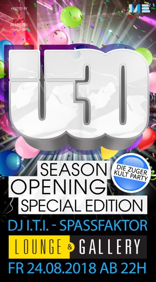 Flyer Ü30 Party Zug - Season Opening