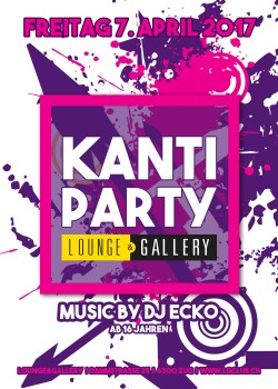 Flyer Kanti Party / 16+