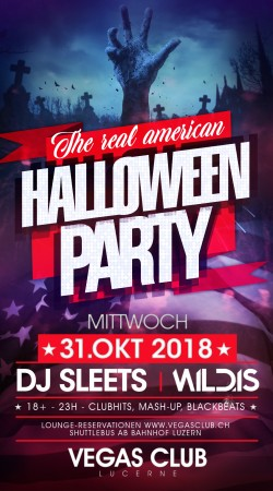 Flyer The Real American HALLOWEEN Party