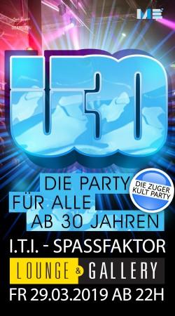 Flyer Ü30 Party Zug