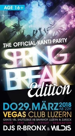 Flyer Kanti Party Spring Break